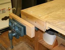 Woodworking Bench Vise Installation by Woodworking Vise Usage The Garage Journal Board