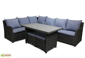 canape jardin resine salon jardin en résine tressée festy canapé d angle table 2