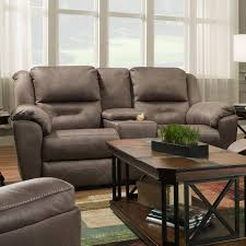 southern motion pandora double reclining console sofa with power