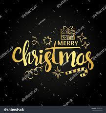 merry christmas modern merry christmas golden handwritten lettering modern stock vector