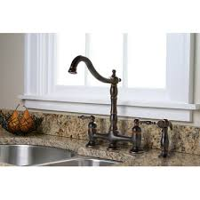 bridge style kitchen faucet premier faucet charlestown two handle bridge style kitchen faucet