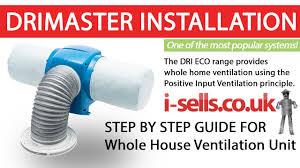 Whole House Ventilation Unit Drimaster Eco Installation Youtube