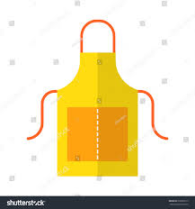 apron working protective clothing kitchen garden stock vector