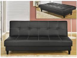canap clic clac cuir canapé clic clac simili cuir noir maison et mobilier d intérieur