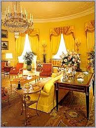 Gold Curtains In The Oval Office Yellow Oval Room Wikipedia