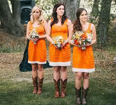 orange bridesmaid dresses of fall wedding ideal weddings