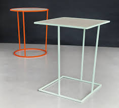 Outdoor Metal Side Table Square Metal Side Table Costance Quadro By Meme Design Design