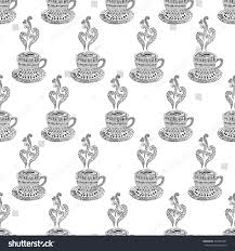 hand drawn cup coffee cup tea stock vector 353565401 shutterstock