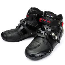 motorcycle shoes with lights motorcycle boots pro biker high ankle racing boots bikers leather