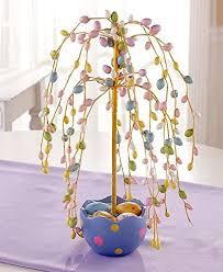 easter egg tree easter egg tree table decor pastel colors eggs tabletop home