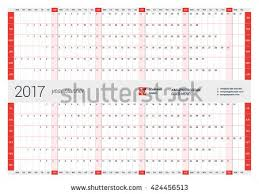 yearly wall calendar planner template 2017 stock vector 424456513