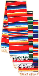 Serape Table Runner Southwest Mexican Blankets Sarapes From Mexico