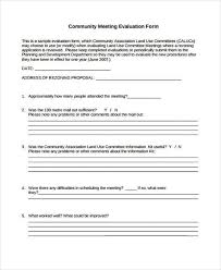 meeting feedback form template doc 600650 self review template