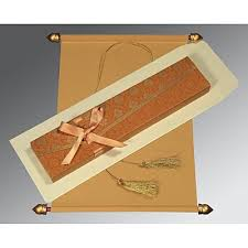 Scroll Wedding Cards Design With Price Scroll Invitations Scroll Wedding Cards A2zweddingcards