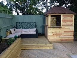 Backyard Shed Bar Diy Outdoor Pallet Bar With Pyramid Style Roof