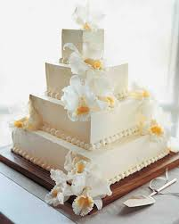square wedding cakes buttercream cakes from real weddings martha stewart weddings