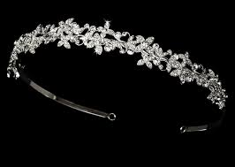 rhinestone headbands floral design rhinestone wedding headband 174