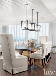 Dining Room Table Light In This Stunning Dining Room Three Hunt Light Fixtures Are