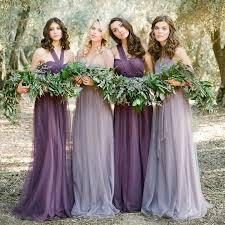 elegant tulle full length a line convertible bridesmaid dress plus
