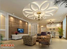 Stylish Modern Ceiling Designs For Living Room With TV And White - Ceiling design for living room