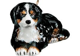 bernese mountain glass ornament by to the world