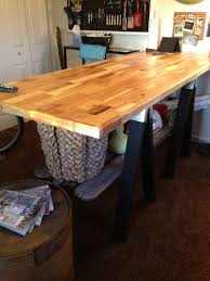 diy craft table love it 7 x 3 butcher block top with saw
