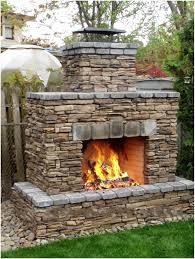 backyards amazing stone faced backyard fireplace built in metall