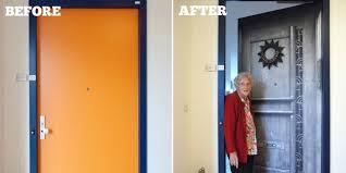 door wallpaper at nursing home door makeovers help dementia patients