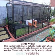 Rabbit Hutch With Detachable Run This Outdoor Rabbit Run Is Made From Aviary Mesh Metal And