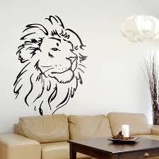 lion head wall sticker wall sticker lions and walls