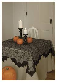 halloween table cover spider web and bat table topper
