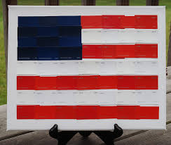Use Flag Paint Chip American Flag Endlessly Inspired