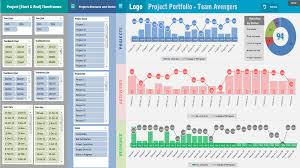 project portfolio dashboard template analysistabs innovating