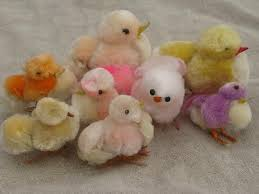 chenille easter japan easter decorations spun cotton and chenille bunnies
