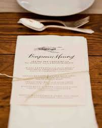 Restaurant Menu Covers Best Wedding Menu Cards From Real Celebrations Martha Stewart