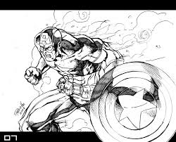 pencil drawings of marvel characters pictures to pin on pinterest