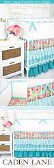 Pink And Teal Crib Bedding by Caden Lane Ryan Crib Bedding Home Beds Decoration