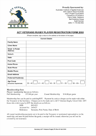 5 form templates word best solutions of free registration form