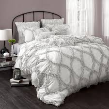bedroom wonderful ruffle comforter for excellent bedding design