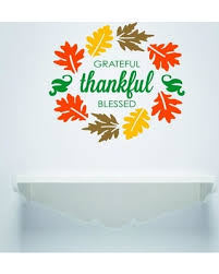 sweet deal on vinyl decal thankful blessed thanksgiving