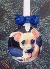 pet photo christmas ornament in memory loss of pet keepsake