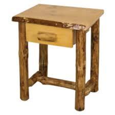 Rustic Pine Nightstand with Rustic Pine Log Nightstand One Drawer Twist Of Nature Log Furniture
