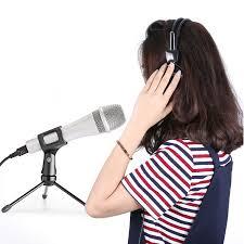 neewer nw 800 condenser microphone gold desktop stand usb sound