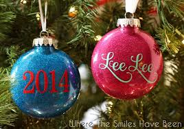 Blank Ornaments To Personalize Diy Personalized Glitter Ornaments