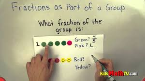 learn about fractions as part of a group math video tutorial for