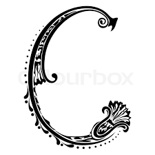 initial letter c on a white background stock photo colourbox