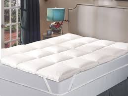 Goose Feather Bed Topper Bedroom Comfortable Bed With Smooth Mattress Topper For Elegant