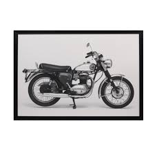 bsa motorcycle wall art
