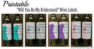 will you be my bridesmaid wine labels printable will you be my bridesmaid wine labels