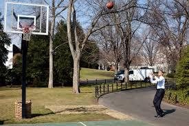 The Inside Of The White House File Barack Obama Shoots On The White House Basketball Court Jpg